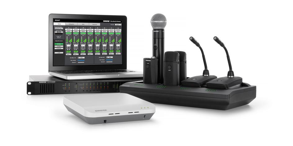 Shure Mx400dp Microflex Desktop Base For Shure Microflex