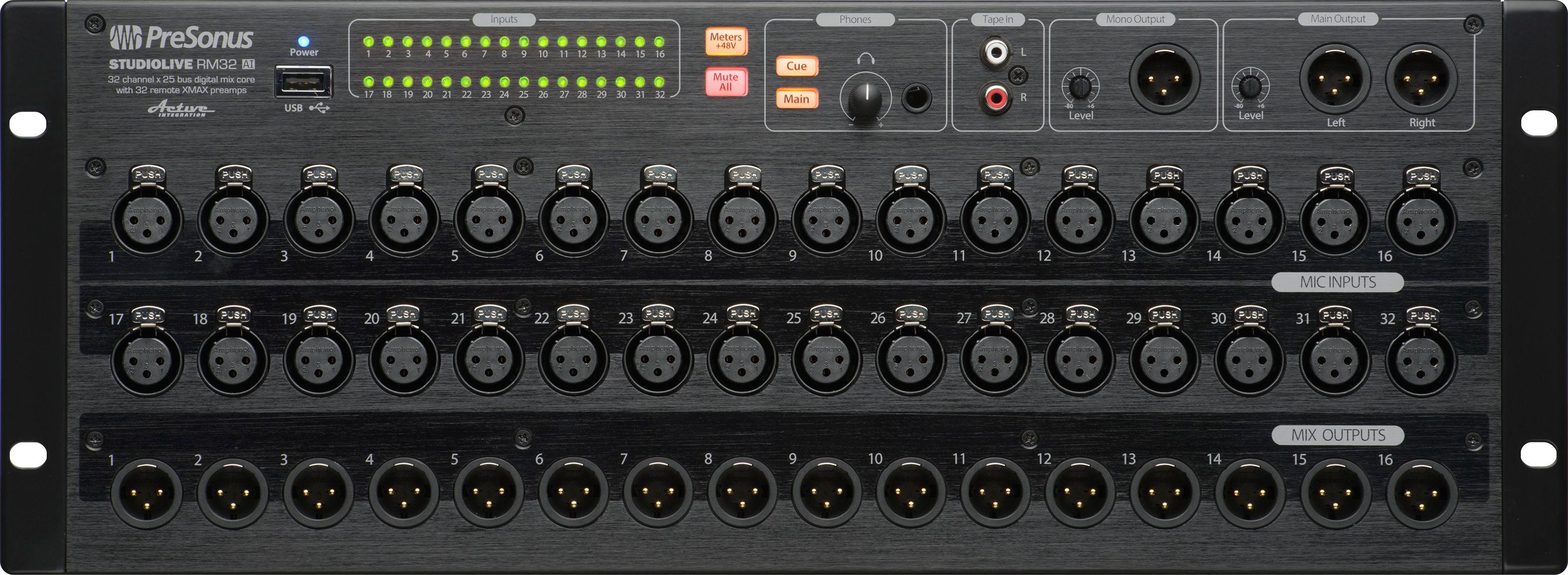 presonus studiolive rm32ai 32 channel touch software controlled digital mixer. Black Bedroom Furniture Sets. Home Design Ideas
