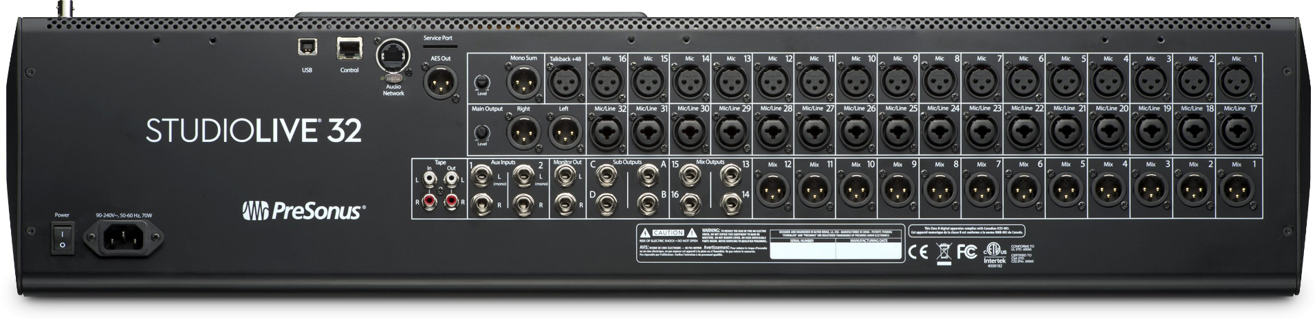 presonus studiolive 32 series iii 32 channel digital mixer with moving faders. Black Bedroom Furniture Sets. Home Design Ideas