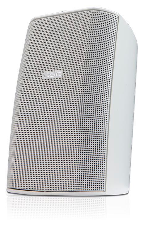 qsc ad s52w white 2 way outdoor speaker w mount bracket pair. Black Bedroom Furniture Sets. Home Design Ideas
