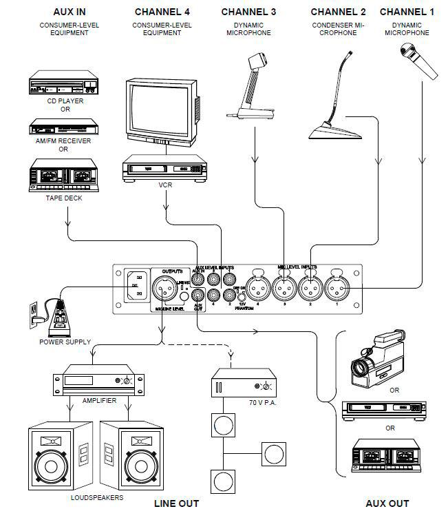 shure 522 wiring diagram