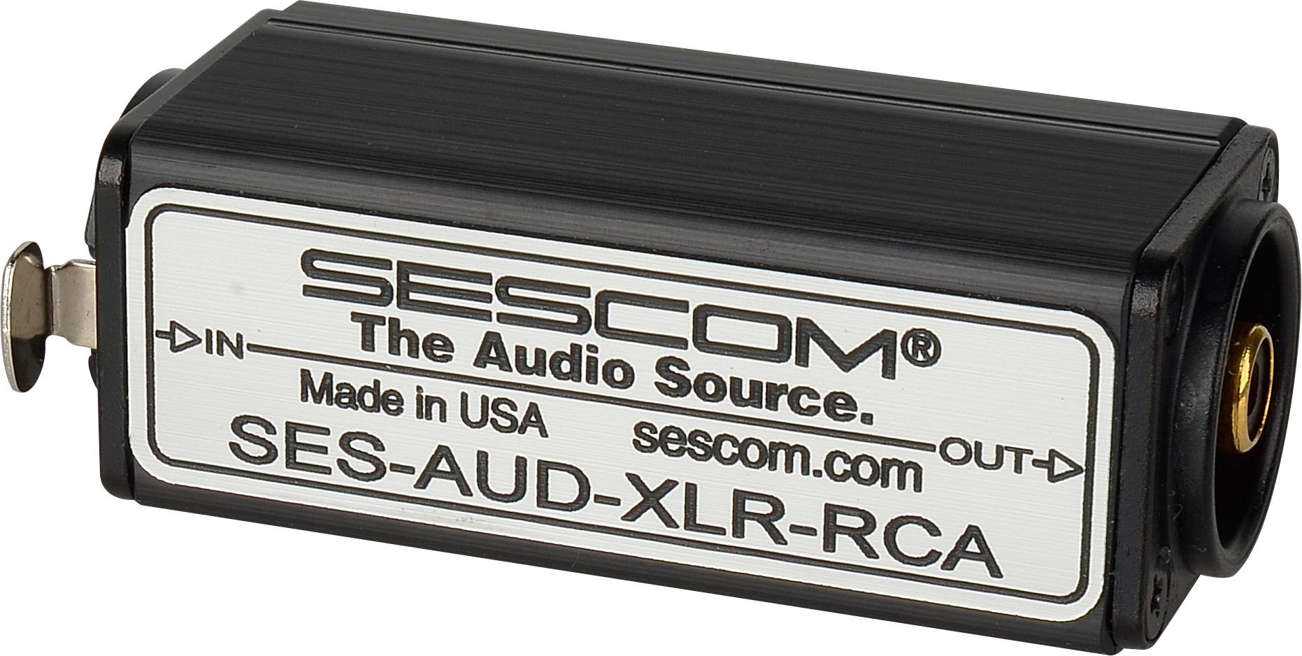sescom aud xlr rca 1 channel xlr to rca balanced to. Black Bedroom Furniture Sets. Home Design Ideas
