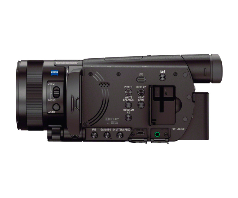 sony fdr ax100 b 4k camcorder with 1 inch sensor. Black Bedroom Furniture Sets. Home Design Ideas