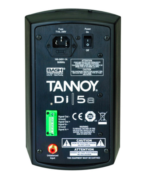 Tannoy Di5a Active Surface Mount Speaker Black