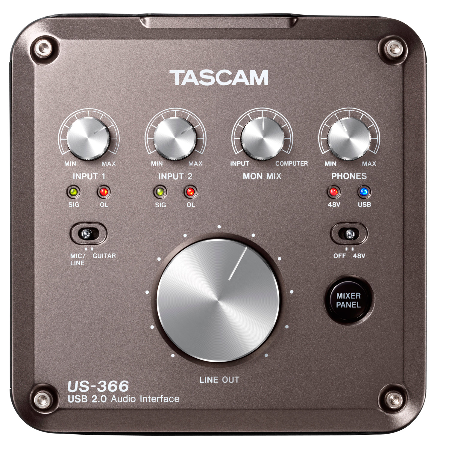 Tascam Us 366 Usb2 0 Audio Interface With Dsp Mixer