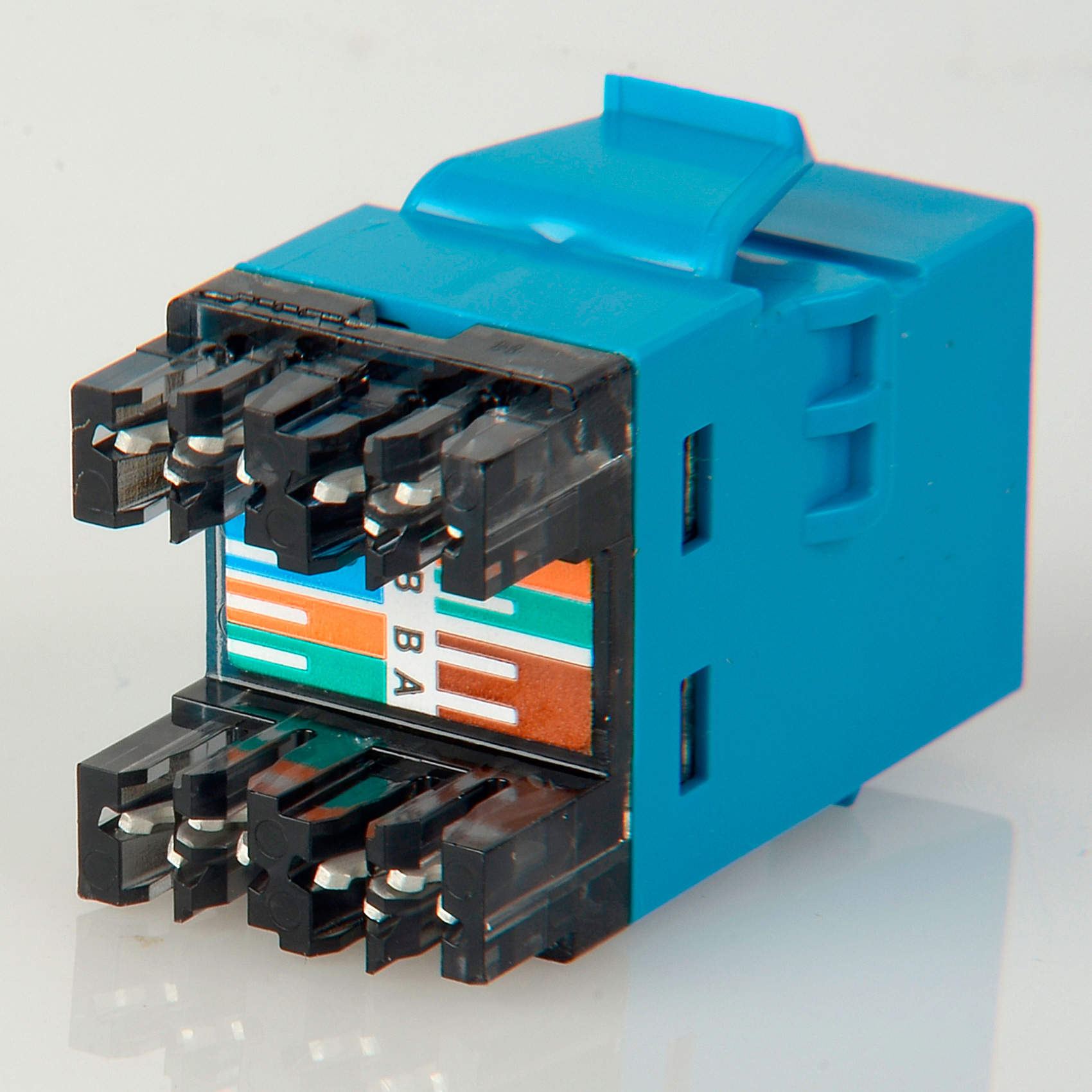 Adc Commscope 2111475 6 T568a T568b Category Rj45 Jack Blue Conector Rj 45 Amp Cat 5