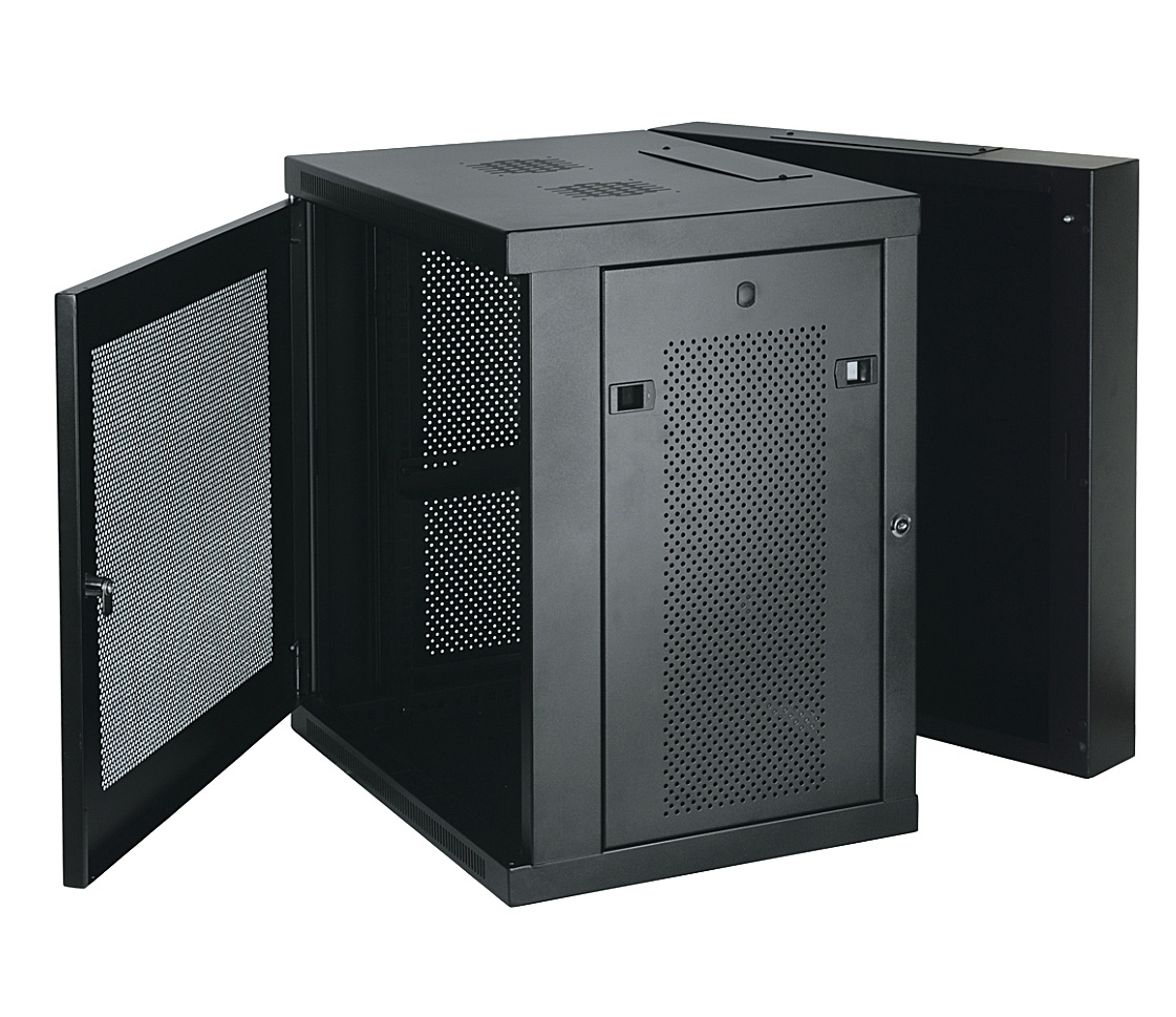 Rack Mount Enclosures : Tripp lite srw us u wall mount rack enclosure hinged