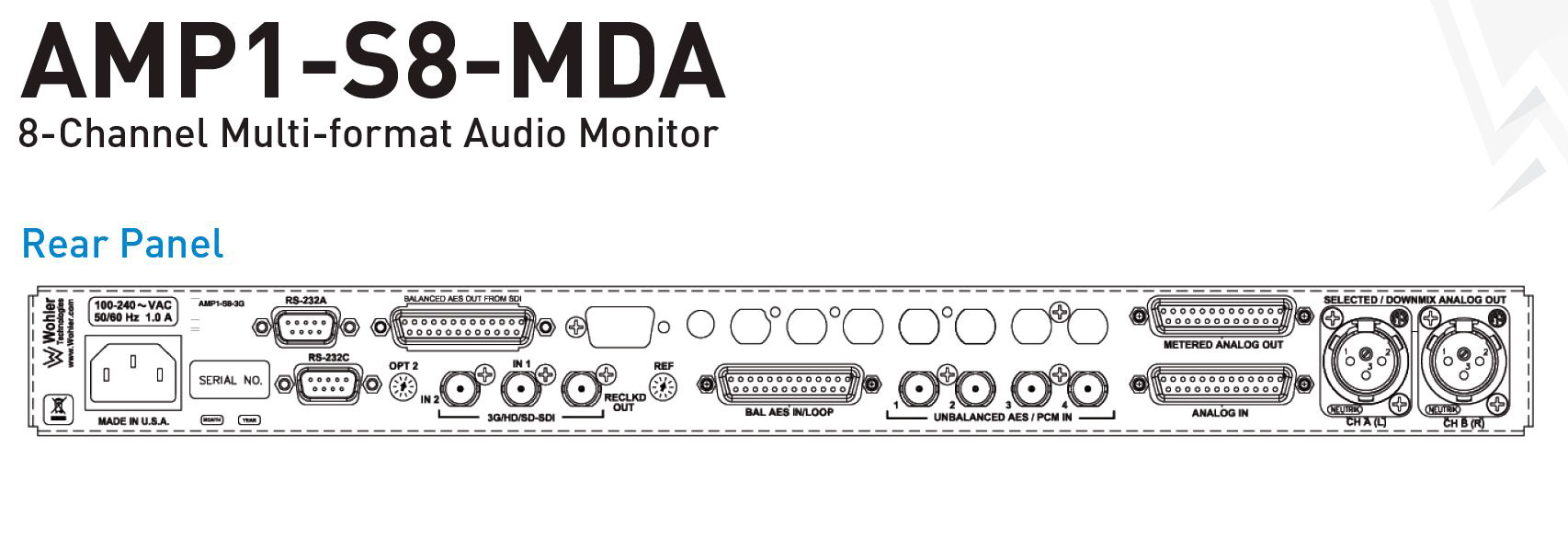 Wohler Amp1-s8mda 8 Channel Hd-sdi Sd-sdi Aes Cameras & Photo Ebu Und Analog Audio Monitor Easy To Use