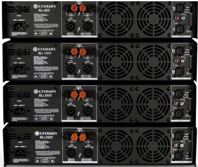 crown xli2500 xli series 1500w 2 channel power amplifier. Black Bedroom Furniture Sets. Home Design Ideas