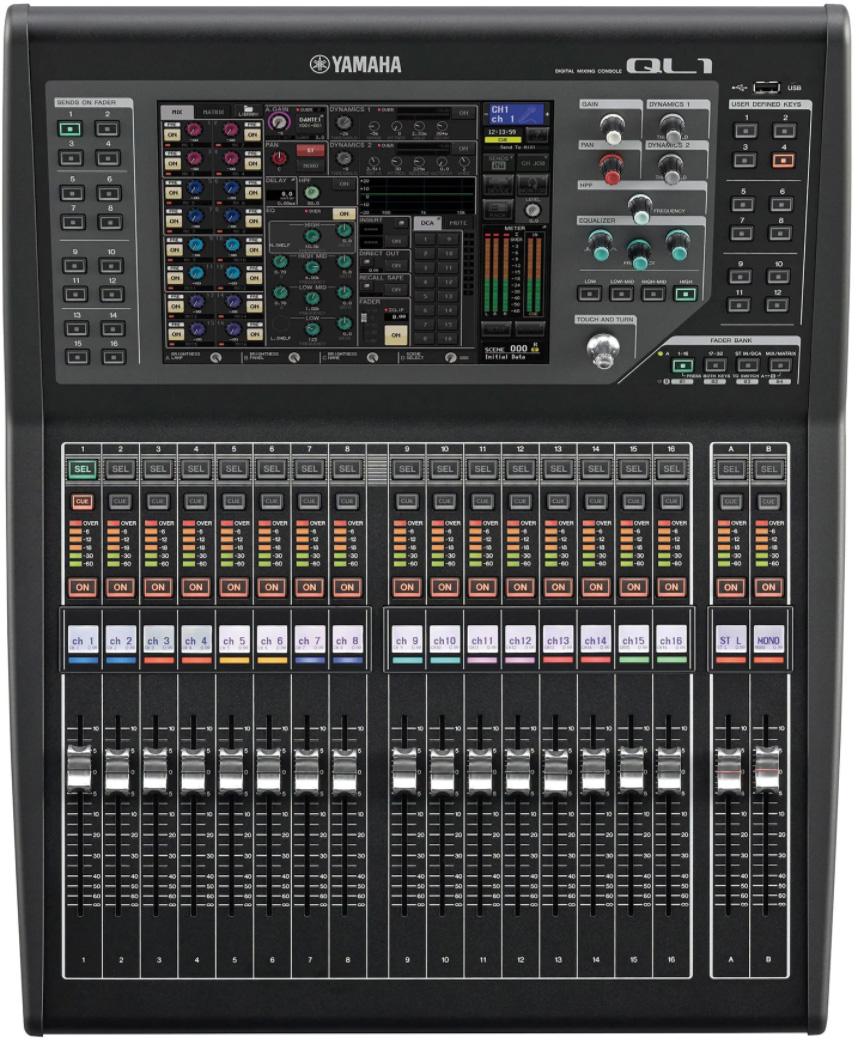 yamaha ql1 32 input digital audio mixing console. Black Bedroom Furniture Sets. Home Design Ideas