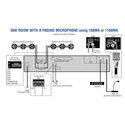 Crown 180MA 4 Input & 1 80 Watt Commercial Audio Mixer/Power Amplifier