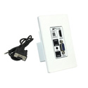AVPro Edge AC-EX100WPP-UHD-T Auto-Switching (HDMI/VGA) HDBaseT Wall Plate Transmitter