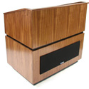 Amplivox SW3030-MH Coventry Multimedia Lectern - Wireless Sound- Mahogany