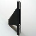 Arlington CE2BL Scoop 2-Gang Cable Entrance Plate Pass Through Black
