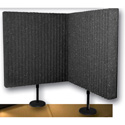 Auralex DESKMAX Stand-Mounted Acoustic Panel Kit with stands - 2x2 Ft x 3 Inch Thick Pair