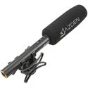 Azden SGM-250 Broadcast Quality Dual Power Shotgun Microphone with LED Status