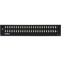 Bittree B48DC-FNPBT/E3 M2OU12L 2RU Black 2x24 Mono Spaced Long-Frame Patchbay with 2 Over/Under Strips