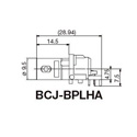 Canare BCJ-BPLHA 75 Ohm Right Angle BNC Jack PCB/ Screw Mounted Type