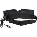 Bescor PRB-12XLRNC 12v 12a 2 Pouch Battery Belt with 4-Pin XLR No Charger