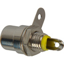 Switchcraft BPJF04X RCA Panel Mount Jack Connector - Front Mount - Yellow Insulator