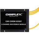 Camplex CMX-CWDM-3C5557 3 Channel CWDM Multiplexer/Demultiplexer with LC Fiber Pigtails - 3 Foot