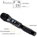 Comica CVM-WS50H Wireless Handheld Microphone for Smartphones