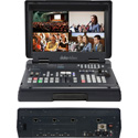 Datavideo HS-1500T-2C HD/SD 4-Channel HDBaseT Portable Video Studio with 2 PTC-150TL HD/SD PTZ Video Cameras
