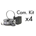 Datavideo ITC-100 Intercom Base Station & 4-User Headset/Beltpack Kit