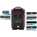 Galaxy Traveler 10 PA w/CD-USB-MP3-SD Player 2 Receivers & 2 Lavalier Mics
