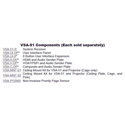 Hall Research VSA-V-DP VGA/Component & Audio Input Decora Plate for VSA System