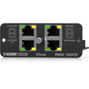Klark Teknik DM80-DANTE Dante Expansion Module with 16x32 Channels - ULTRANET Audio Networking & Ethernet
