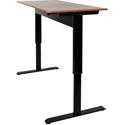 Luxor SPN48F-BK/TK Pneumatic Adjustable Height Standing Desk - 48 Inch