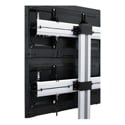Middle Atlantic DS-600-2X2C-AL DisplayStation Monitor Wall - 600 VESA 2x2 Display Wall with Casters
