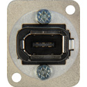 Neutrik NA1394-6 FireWire 6-Pin Female to Female Panel Mount Nickel D-Housing