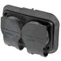 Neutrik NAC3PX-TOP Receptacle - powerCON TRUE1 TOP - Duplex Male/Female - Power in/out - 1/4 Inch Flat Tab Terminals
