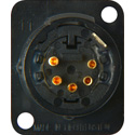 Neutrik NC5MD-L-B-1 5-Pin XLR Male Panel/Chassis Mount Connector  - Black/Gold
