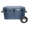 Portabrace PB-2850FORX Hard Case with Off-Road Wheels and Foam Interior - Blue