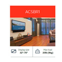 Peerless ACSBR1 Universal Sound Bar Mounting Kit for 32 to 70 Inch TVs
