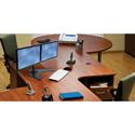 Peerless-AV LCZ-2F430B Up to 30 Inch Dual Desktop Display Mount