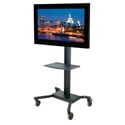 SmartMount Universal Cart for 32 - 75 Inch Flat Panels w/Metal Shelf - Black