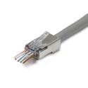 Platinum Tools 100024C ezEX44 10G RJ45 Shielded Connector w/ Int. Ground for Conductor OD Range .039in - .044in - 25pk