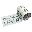 Pro Tapes PRO 4000 - Please Stay 6 Feet Apart - 6x10 Adhesive Back Social Distancing Stickers - White