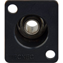 TecNec 1/4in Stereo Recessed Female D Series Chassis Mount Black
