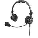RTS LH-302 Double-Sided Headset Dynamic Mic - 3.5mm TRRS Connector