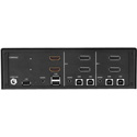Smart-AVI SDHN-2D-P Secure 2-Port Dual-Head Pro DisplayPort to HDMI KVM Switch with USB / Audio and Dedicated CAC Port