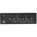 Smart-AVI SDVN-2S-P Secure 2-Port Dual-Link DVI-I KVM Switch with Dedicated CAC Port & 4K Support