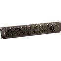 Shattuc SBP-PNLDTF-12F/MXLR DT12 to XLR Wired Rackmount Breakout Panel - DT12 Panel Mount Female