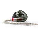 Sennheiser IE 500 PRO In-ear Monitoring Headphones w/ Sys 7 Dynamic Transducer & Detachable Twisted Cable - Smoky Black