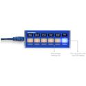 Skaarhoj QUICK BAR 6-Button Auxiliary Panel for Aux Bus/Audio Settings/Keys