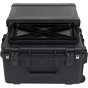 SKB 3i-2217M103U iSeries Case with Removeable 3U Injection Molded Rack Cage - TSA Latches/Wheels
